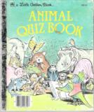 * Animal Quiz Book #308-44 : Hardcover Little Golden Book LGB
