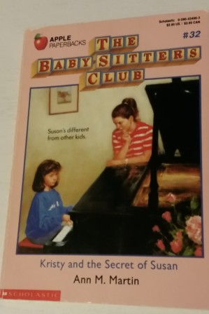 MARTIN Ann M #32 Kristy and the Secret of Susan PB Book Baby Sit