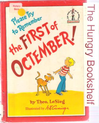 * DR SEUSS Please Try to Remember the First of Octember SC Book
